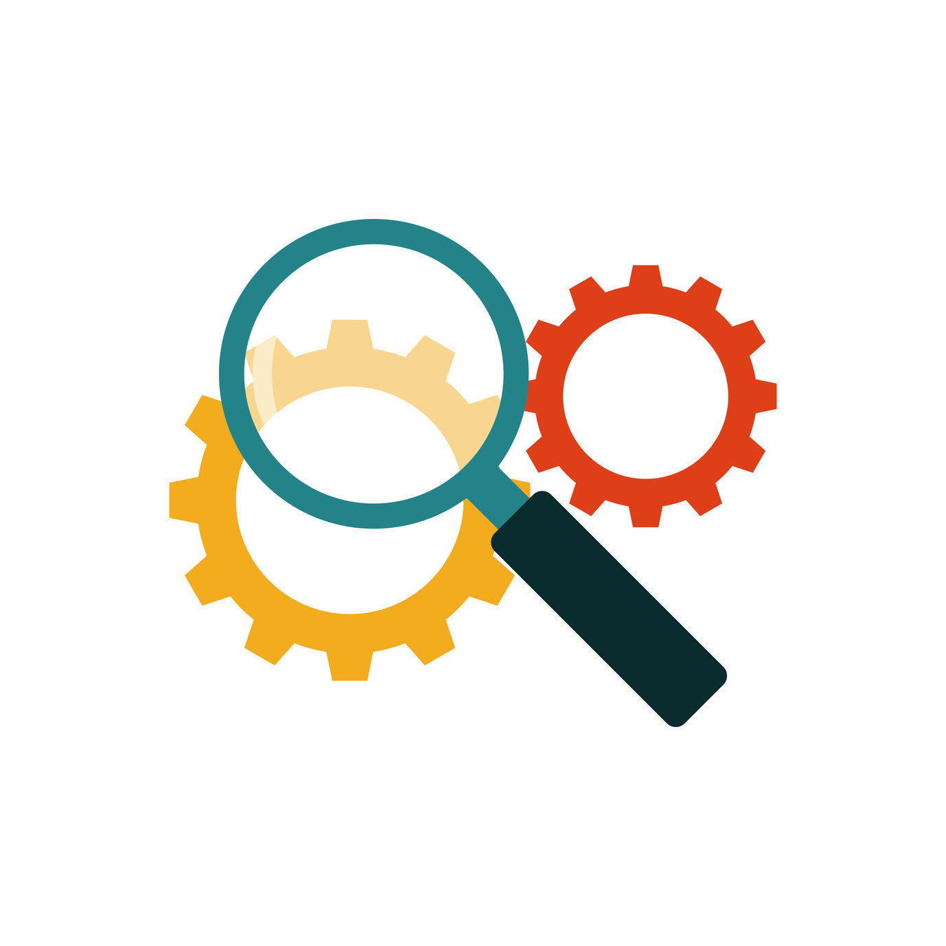 Search engine optimization flat icon